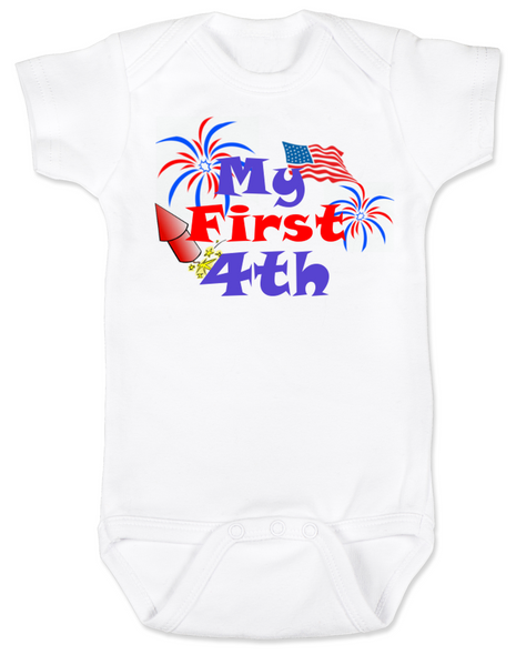 My First Fourth baby Bodysuit, My First 4th baby onsie, 4th of July, Independence day infant bodysuit, Patriotic baby