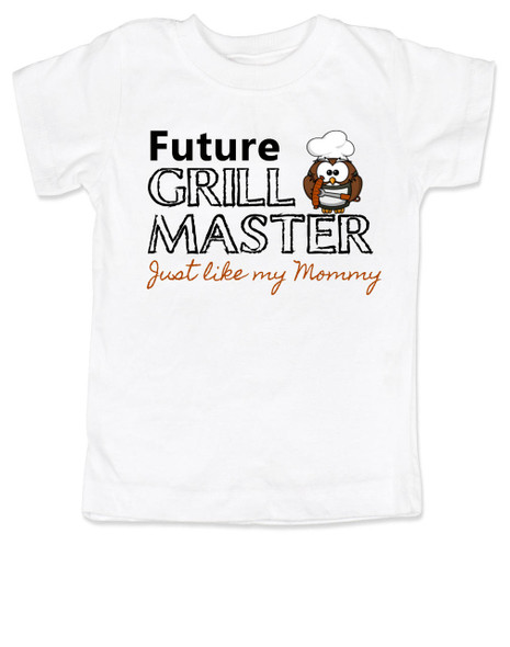 Future Grill Master toddler shirt, grill master like mommy kid shirt, future cook like mom and dad, personalized toddler shirt for parents who love to cook, grill master like mommy