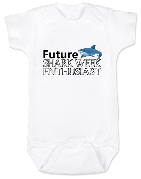 Shark Week Baby Bodysuit, Future Shark Week Enthusiast, Little ocean enthusiast, Ocean baby gift, Future shark lover, shark baby bodysuit, shark week onsie
