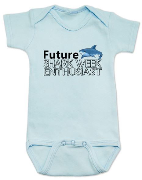 Shark Week Baby Bodysuit, Future Shark Week Enthusiast, Little ocean enthusiast, Ocean baby gift, Future shark lover, shark baby bodysuit, shark week onsie, blue