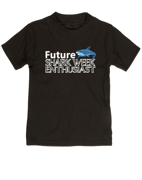 Shark Week toddler shirt, Future Shark Week Enthusiast, Little ocean enthusiast, Ocean baby toddler gift, Future shark lover, shark week kid shirt, black
