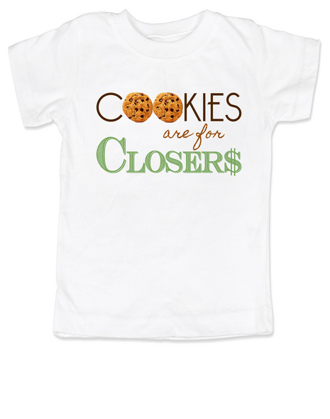 Cookies are for closers toddler shirt, Boss Baby kid shirt, funny boss baby gift, white