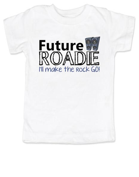 Future Roadie toddler shirt, musician kid, rock and roll toddler gift, personalized rock birthday gift, Roadie like dad, future rockstar, tenacious d toddler shirt