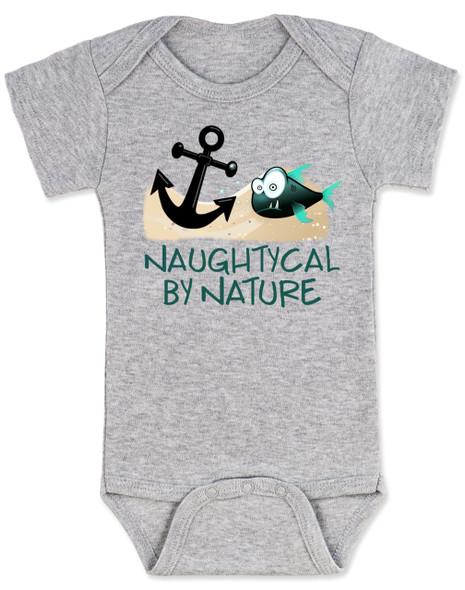 Naughtycal by nature gift box, nautical baby gift set, naughty by nature baby, Nautical baby shower, ocean baby gift, crochet shark hat, shark baby hat, ocean lover parents, grey baby onesie