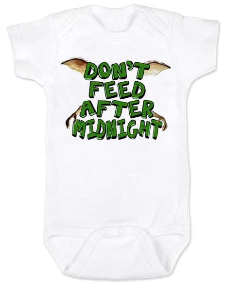 Don't feed after midnight, gremlins baby Bodysuit, gremlins movie baby bodysuit, 80's movie baby gift, mogwai, gizmo