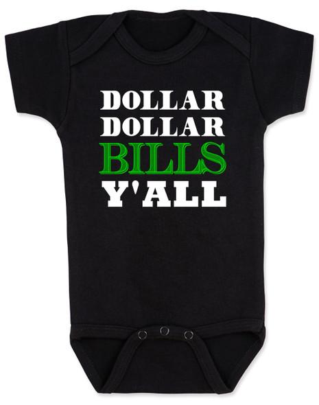 Wu-tang baby Bodysuit, money baby Bodysuit, dollar dollar bills ya'll, future money maker, hip hop baby Bodysuit, black