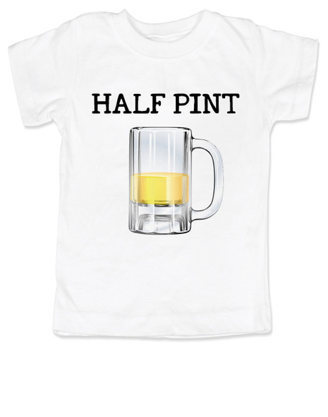 Half Pint toddler shirt, Daddy's drinking buddy, Mommy's Drinking buddy, Beer kid shirt, drinking with daddy, Beer mug toddler shirt, toddler gift for beer drinking parents, funny beer toddler shirt, parents who are beer lovers