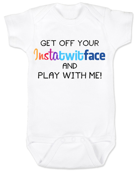 Instatwitface, facebook baby, instagram baby, twitter baby, hashtag baby bodysuit, social media parents, instatwittface, funny social media baby gift, insta baby, facebook parents, technology parents, pinterest parents, instatwitface baby bodysuit