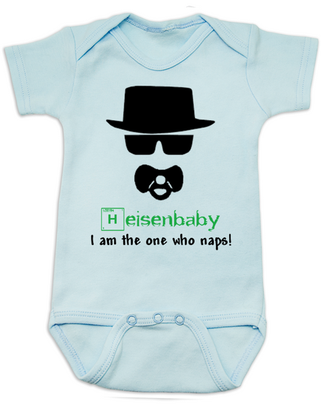 Breaking Bad Baby Bodysuit, HeisenBaby, I am the one who naps, Heisenburg, Badass baby, Breaking Dad, Blue