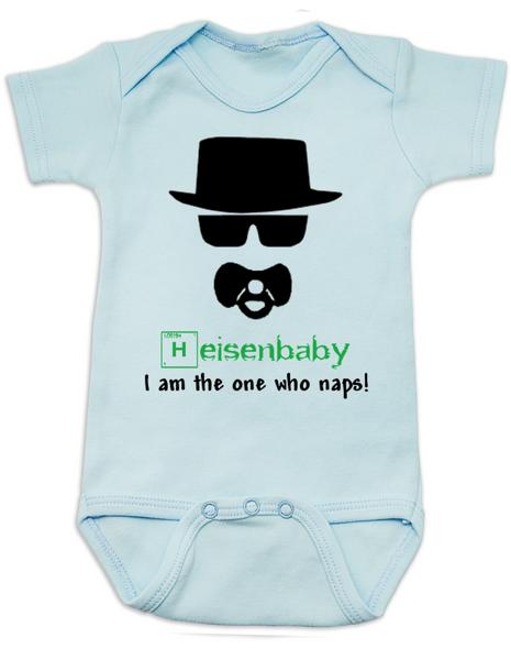 Breaking Bad Baby Bodysuit, HeisenBaby, I am the one who naps, Heisenburg, Badass baby, Breaking Dad, Blue