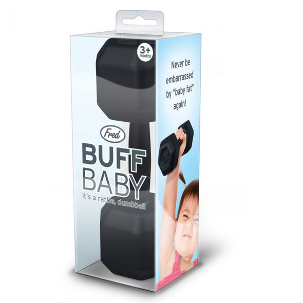 BUFF Baby Rattle, funny baby toy, baby weights, baby gift for fit parents, baby work out, SWOLE baby, future weight lifter, body builder parents, weight lifting parents, gift for parents who work out, novelty baby gift, do you even lift bro, dumbbell baby rattle, in clear package