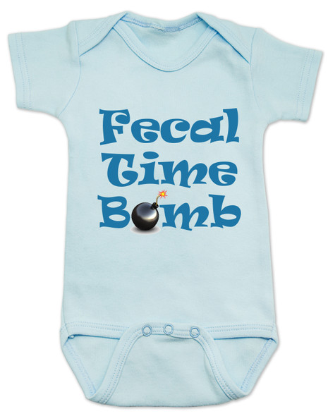 Fecal time bomb onesie, fecal time bomb bodysuit, john oliver mount everest baby onesie, blue