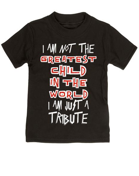Tenacious D toddler, Tenacious D T-shirt, I'm just a tribute t-shirt, I'm not the greatest toddler, Jack Black t-shirt, Jack Black toddler black
