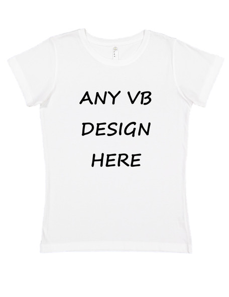 Put any vulgar baby design on an adult shirt, womens white t-shirt