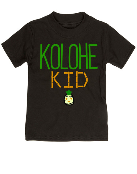 Kolohe Kid, Kolohe Baby, Hawaiian toddler shirt, wild child, crazy kids shirt, funny Hawaiian shirt for toddler, cute pineapple tshirt, Hawaii kids, beachy kids funny shirt, cool kids shirt, black