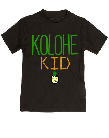Kolohe Kid, Kolohe Baby, Hawaiian toddler shirt, wild child, crazy kids shirt, funny Hawaiian shirt for toddler, cute pineapple tshirt, Hawaii kids, beachy kids funny shirt, cool kids shirt, black