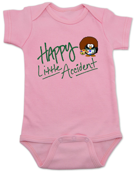 Happy Little Accident, Bob Ross baby bodysuit, baby gift for artist, future painter, future artist, funny bob ross baby, happy accidents bob ross