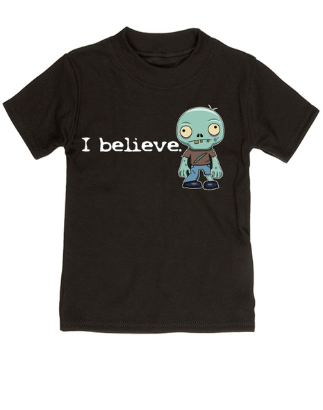I believe in zombies, zombie toddler shirt, I believe kid shirt, zombie toddler gift, gift for zombie lovers, future zombie hunter, little zombie I believe, funny zombie toddler shirt, believe in undead, undead zombie gift for little kids, zombie toddler, black