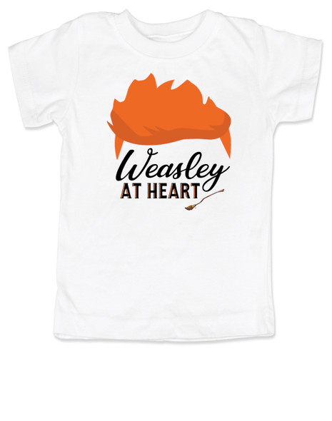 Weasley at heart, Harry potter kid, Wizarding world toddler shirt, Weasley toddler shirt, harry potter toddler shirt, red head weasley kid, wizard kid, ron weasley shirt, weasley brothers shirt, harry potter gift