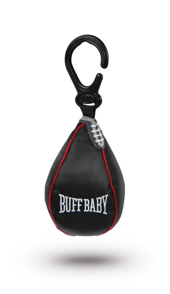 BUFF Baby Speed Bag, baby boxing bag hanging toy, boxing baby, funny baby toy, car seat speed bag, baby weights, baby gift for fit parents, baby work out, SWOLE baby, future weight lifter, body builder parents, weight lifting parents, gift for parents who box, novelty baby gift, do you even lift bro, boxing gym baby toy, black toy speed bag with hanger