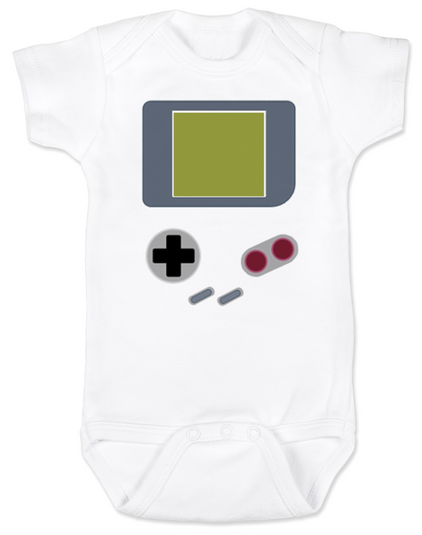 Game Boy Baby Bodysuit, Retro gamer, video game infant bodysuit, geeky gamer parents, Nintendo game boy onsie, classic gaming baby clothes