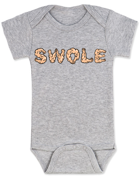 Swole baby, buff baby gift set, work out baby gift, future gym buff, babies that lift, new parents that work out, fitness baby gift, baby shower gift for fit parents, personal trainer baby gift, baby boxing speed bag toy, baby weight dumbbell rattle, weight lifting parents, muscle baby gift box, Swole muscle baby bodysuit