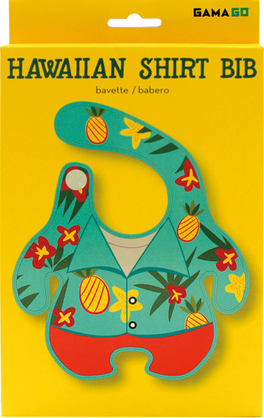 Hawaiian Shirt Baby Bib, Funny baby bib, Aloha baby, Hawaiian shirt on baby, novelty baby bib, summer baby gift, pineapple baby bib, summer baby bib, cool kids bib, in packaging