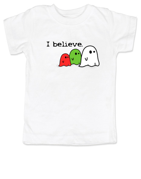 I believe in ghosts, cute ghost toddler shirt, supernatural toddler, ghost halloween toddler shirt, ghost kid shirt