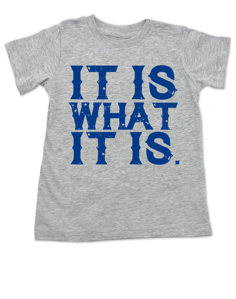 it is what it is, funny toddler shirt, bad attitude toddler, deal with it, grey