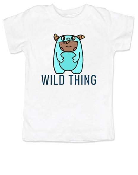 wild child toddler shirt, where the wild things are, wild thing toddler, cute monster toddler shirt, toddler dressed as wild thing, cute bookish toddler shirt, white