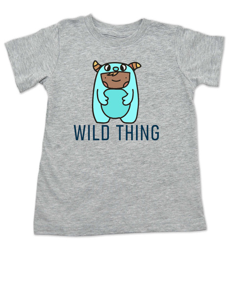wild child toddler shirt, where the wild things are, wild thing toddler, cute monster toddler shirt, toddler dressed as wild thing, cute bookish toddler shirt, grey