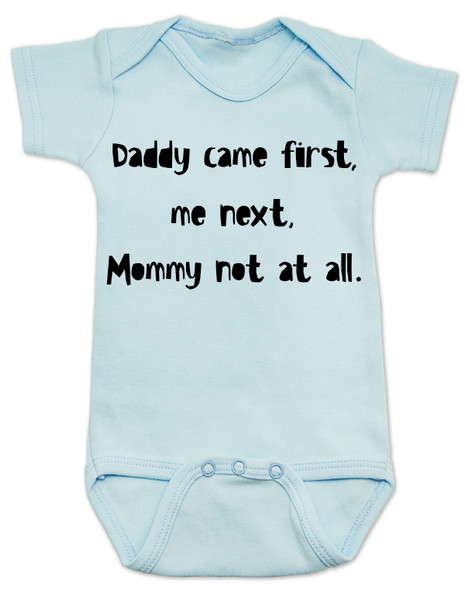 funny joke, baby gift for dad, bad joke baby bodysuit, blue