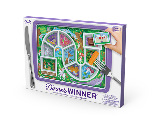 Dinner Winner, Enchanted Forest kids plate, fun kids gift, dinner tray for little girls, fun dinner tray, food plate to help picky eaters, princess dinner tray, in packaging