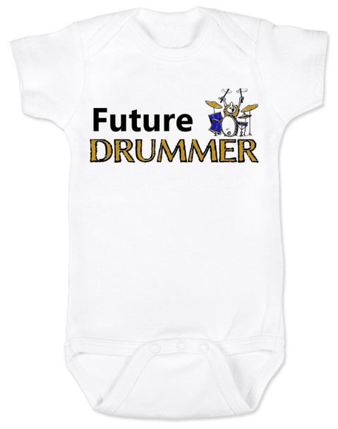 Future Drummer Baby Bodysuit, Musician baby onsie, Drummer like daddy, rock and roll music, band Bodysuit, personalized drummer baby Bodysuit