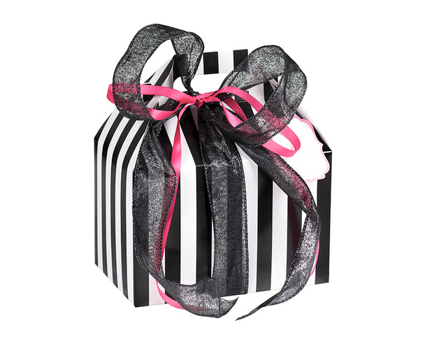 Badass Baby Box Gift Set. Best Baby Shower Gift Ever. Punk Rock Baby Gift Includes: wrapping for any Vulgar Baby Bodysuits or T-Shirts of your choice, a Vulgar Baby Bib, a Badass Burp Cloth, 2 organic lollipops and a funny baby shower game Madlib. All wrapped up in beautiful packaging. A ready made, personalized and unique gift for any new parents.