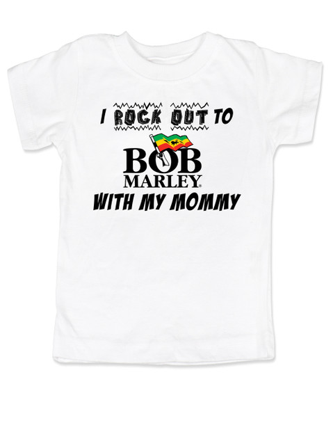 I rock out to Bob Marley with my Mommy / Daddy Bodysuit or T-shirt- Custom Baby Band Shirt