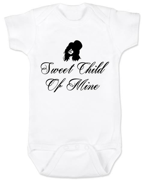 Slash, Sweet Child of Mine baby Bodysuit, guns and roses band onsie