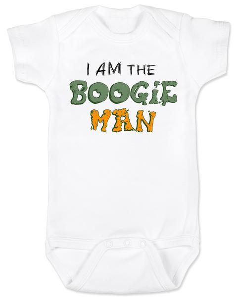 Boogie Man Bodysuit, I am the boogie man, funny Halloween baby Bodysuit, Boogie Man Baby bodysuit, Unique Halloween onsie