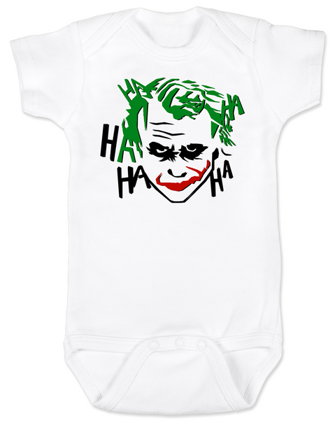 The Joker baby Bodysuit, Joker Halloween baby onsie