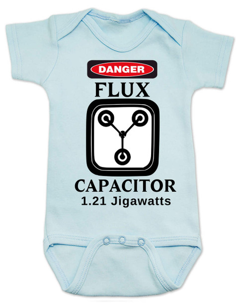 Back to the future baby Bodysuit, Flux Capacitor baby onsie, Marty Mcfly, Classic Movies, 80's Baby Bodysuit, 1.21 Gigawatts, blue