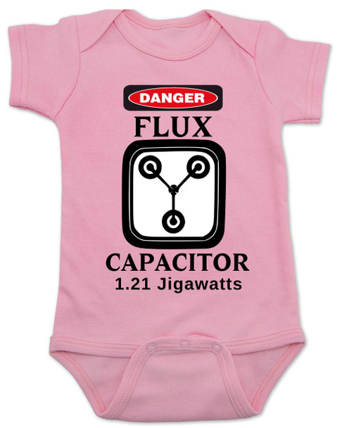 Flux Capacitor Back to the Future Baby Bodysuit