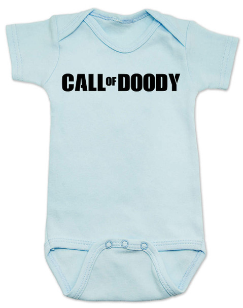 Call of Doody baby Bodysuit, Call of Duty baby onsie, gamer parents, video game Bodysuit, gaming infant bodysuit, blue