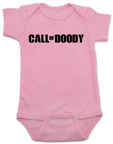 Call of Doody baby Bodysuit, Call of Duty baby onsie, gamer parents, video game Bodysuit, gaming infant bodysuit, pink