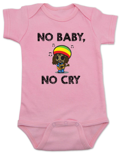 Bob Marley baby Bodysuit, No Baby No Cry, Reggae Music infant bodysuit, Rock n Roll Baby clothes, Jamaican Baby Lullaby, No woman no cry, Reggae onsie, pink