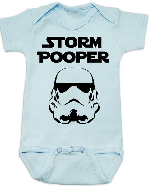 Star Wars Storm Pooper Baby Bodysuit, blue
