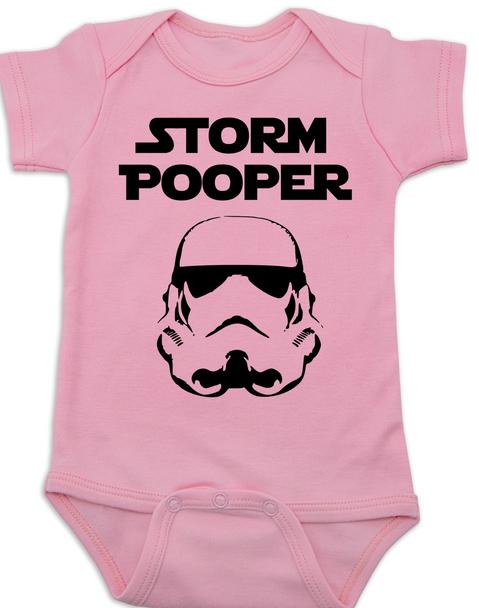 Star Wars Storm Pooper Baby Bodysuit, pink
