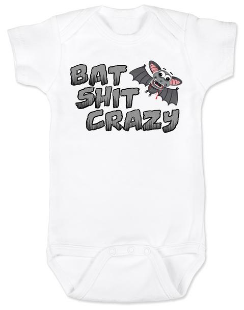 Bat Shit Crazy Baby Bodysuit, Wild Child