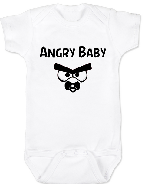 Angry Birds baby Bodysuit, angry baby onsie, funny video game baby clothes