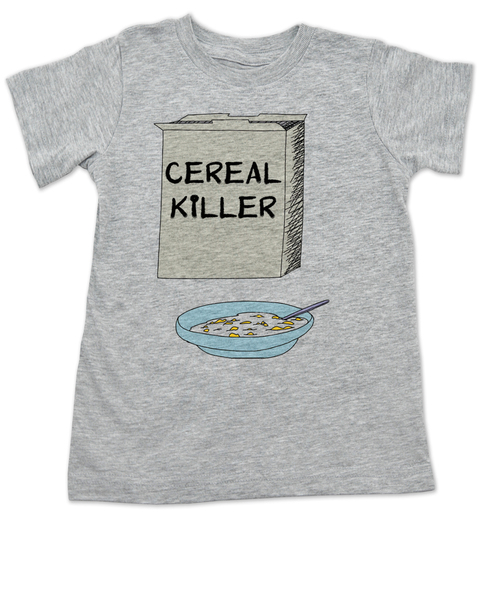 Cereal Killer toddler shirt, horror movie toddler t-shirt, bowl of cereal, Cereal Killer, Punny kid