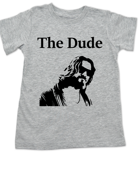 The Dude toddler shirt, The Big Lebowski Movie toddler t-shirt, grey